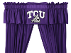 NCAA TCU Horned Frogs Valance - Locker Room Series