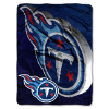 NFL Tennessee Titans BEVEL 60x80 Super Plush Throw