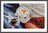 NCAA Texas Longhorns Eyes Of Texas Mosaic