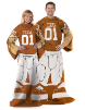 NCAA Texas Longhorns Uniform Huddler Blanket With Sleeves