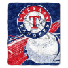 MLB Texas Rangers SHERPA 50x60 Throw Blanket