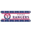 MLB Texas Rangers Wall Paper Border