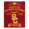 NCAA USC Trojans 50x60 Raschel Throw Blanket