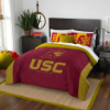 NCAA USC Trojans QUEEN Comforter and 2 Shams