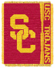 NCAA USC Trojans FOCUS 48x60 Triple Woven Jacquard Throw