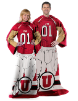 NCAA Utah Utes Uniform Huddler Blanket With Sleeves