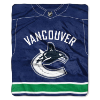 NHL Vancouver Canucks JERSEY 50x60 Raschel Throw