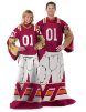 NCAA Virginia Tech Hokies Uniform Huddler Blanket With Sleeves