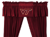 NCAA Virginia Tech Hokies Valance - Locker Room Series