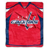 NHL Washington Capitals JERSEY 50x60 Raschel Throw