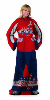 NHL Washington Capitals Uniform Huddler Blanket With Sleeves