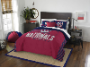 MLB Washington Nationals QUEEN Comforter and 2 Shams
