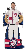 MLB Washington Nationals Uniform Huddler Blanket With Sleeves