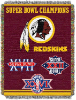 NFL Washington Redskins Commemorative 48x60 Tapestry Throw