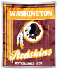 NFL Washington Redskins Sherpa MINK 50x60 Throw Blanket