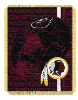 NFL Washington Redskins SPIRAL 48x60 Triple Woven Jacquard Throw