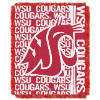 NCAA Washington State Cougars FOCUS 48x60 Triple Woven Jacquard Throw