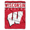 NCAA Wisconsin Badgers 60x80 Super Plush Throw
