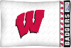 NCAA Wisconsin Badgers Micro Fiber Pillow Cases (set of 2)