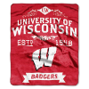 NCAA Wisconsin Badgers 50x60 Raschel Throw Blanket