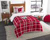 NCAA Wisconsin Badgers Twin Comforter with Sham