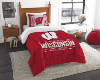 NCAA Wisconsin Badgers Twin Comforter Set