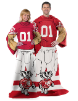 NCAA Wisconsin Badgers Uniform Huddler Blanket With Sleeves