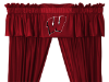 NCAA Wisconsin Badgers Valance - Locker Room Series