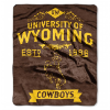 NCAA Wyoming Cowboys 50x60 Raschel Throw Blanket