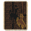 NCAA Wyoming Cowboys FOCUS 48x60 Triple Woven Jacquard Throw