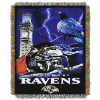 NFL Baltimore Ravens Home Field Advantage 48x60 Tapestry Throw