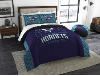 NBA Charlotte Hornets QUEEN Comforter and 2 Shams