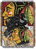 NHL Chicago Blackhawks Home Ice Advantage 48x60 Tapestry Throw