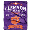 NCAA Clemson Tigers 50x60 Raschel Throw Blanket