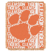 NCAA Clemson Tigers FOCUS 48x60 Triple Woven Jacquard Throw