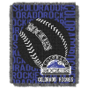 MLB Colorado Rockies 48x60 Triple Woven Jacquard Throw