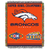 NFL Denver Broncos Commemorative 48x60 Tapestry Throw