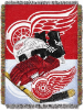 NHL Detroit Red Wings Home Ice Advantage 48x60 Tapestry Throw
