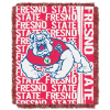 NCAA Fresno State Bulldogs FOCUS 48x60 Triple Woven Jacquard Throw