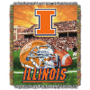 NCAA Illinois Fighting Illini Home Field Advantage 48x60 Tapestry Throw