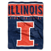 NCAA Illinois Fighting Illini OVERTIME 60x80 Super Plush Throw