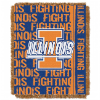 NCAA Illinois Fighting Illini FOCUS 48x60 Triple Woven Jacquard Throw