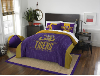 NCAA LSU Tigers QUEEN Comforter and 2 Shams