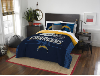 NFL Los Angeles Chargers QUEEN Comforter and 2 Shams