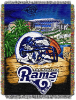 NFL Los Angeles Rams Home Field Advantage 48x60 Tapestry Throw
