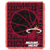 NBA Miami Heat 48x60 Triple Woven Jacquard Throw