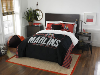 MLB Miami Marlins QUEEN Comforter and 2 Shams