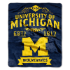 NCAA Michigan Wolverines 50x60 Raschel Throw Blanket