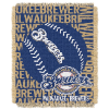 MLB Milwaukee Brewers 48x60 Triple Woven Jacquard Throw