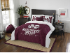 NCAA Mississippi State Bulldogs QUEEN Comforter and 2 Shams